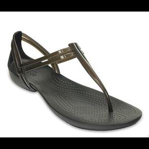 Isabella T-strap Croc Sandals